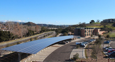 Solar Canopy Carport at the Conrad N. Hilton Foundation in Agoura Hills, CA.  (PRNewsFoto/Panasonic Corporation of North America)