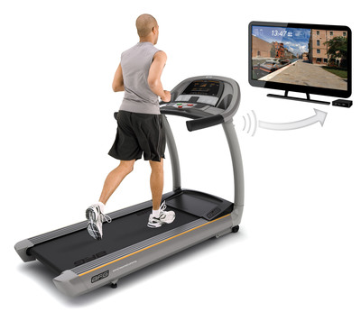 New Passport(TM) Media Player Delivers High-Def Treadmill Experience. Shown here on the AFG 7.1 AT.  (PRNewsFoto/Johnson Health Tech North America)