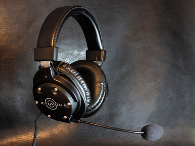 The new Taction Kannon headset uses haptic drivers that can render bass frequency to 15 Hz -- deeper bass than anything available on the market