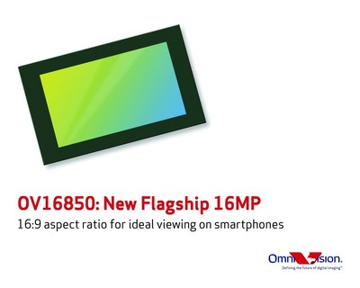 OV16850: OmniVision's new flagship 16-megapixel image sensor for smartphones. (PRNewsFoto/OmniVision Technologies, Inc.)
