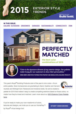 Royal(R) Building Products Reveals 2015 Home Exterior Style Trends