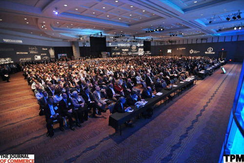 With more than 1,800 attendees, The Journal of Commerce broke records with its 12th annual Trans-Pacific Maritime Conference in Long Beach, Calif. this week. Among discussions of mega-ships, freight rates, regulation and increases in imports, some major questions emerged: Can carriers achieve planned revenue increases this year in the face of multi-billion dollar losses sustained in 2011? Can the liner industry achieve long-term stability in the Asia-U.S. trade lane? Such questions were particularly relevant in light of modest growth forecast ...