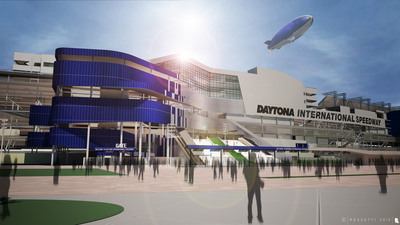 ISC approved funding to redevelop the frontstretch of Daytona International Speedway, the Company's 54-year-old flagship motorsports facility, to enhance the overall experience for its fans, marketing partners and the motorsports industry.  (PRNewsFoto/International Speedway Corporation)