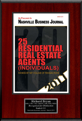 "Richard F. Bryan Selected For ""25 Residential Real Estate Agents (Individuals).""  (PRNewsFoto/American Registry)"