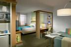 Fairfield Inn & Suites Canton South sleeping room.