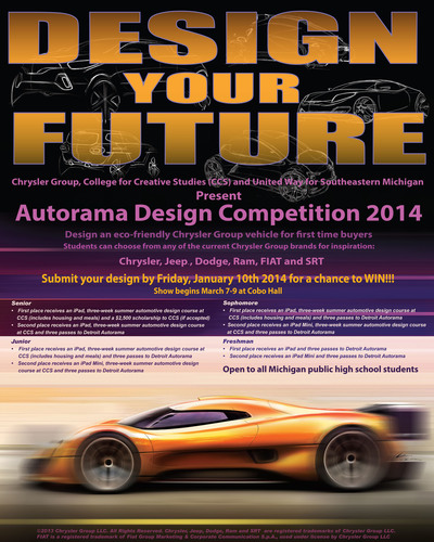 Chrysler Group LLC's Product Design hosts second annual design competition open to all high school students  ...