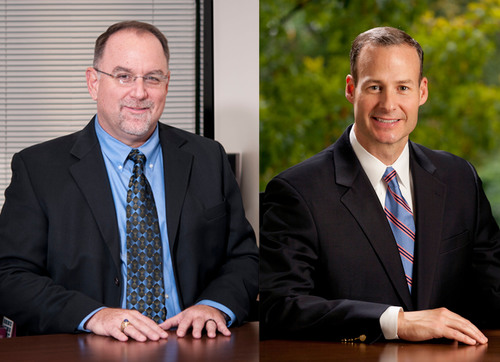 OrthoAccel(R) Technologies, Inc. expands senior management team with additions of Jeff Layton and Doug Bukaty. From left: Jeff Layton was named chief operations officer and Doug Bukaty was named vice president of sales. (PRNewsFoto/OrthoAccel Technologies, Inc.)