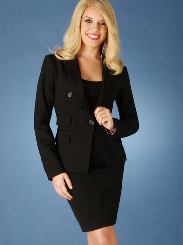 Teresa Scanlan, Miss America 2011, proudly wearing a look from Express, an official sponsor of the 2012 Miss ...