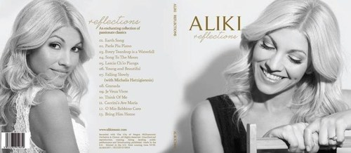 Album Artwork for 'Reflections', the Debut Album from Britain's Got Talent Soprano, Aliki (PRNewsFoto/Press Office of Aliki)