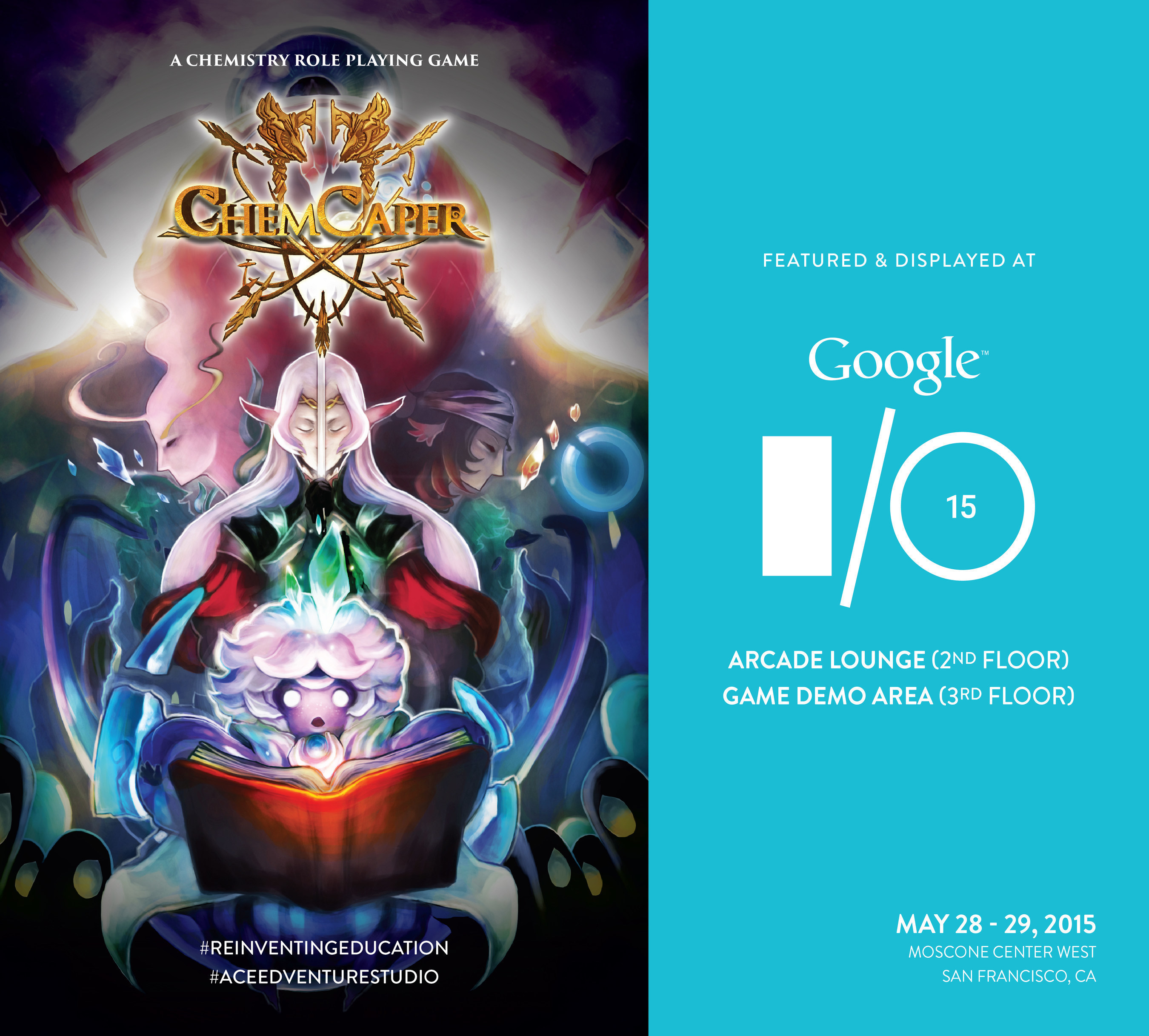 Google I/O 2015 to Feature ChemCaper, the World's First Chemistry Role Playing Game