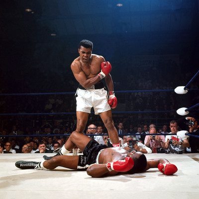 Muhammad Ali knocks out Sonny Liston in 1965. (Neil Leifer/Sports Illustrated)(PRNewsFoto/Newseum, Neil Leifer/Sports Illustrated)