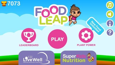 The National Restaurant Association collaborated with SuperKids Nutrition to create the new gaming app called FoodLeap to bring attention to the Kids LiveWell program, which offers healthful children's menu items at 150 restaurant brands representing 42,000 restaurant locations across the nation. The aim of FoodLeap is to grow awareness about Kids LiveWell, while increasing children's knowledge about the benefits of eating fruit and vegetables.
