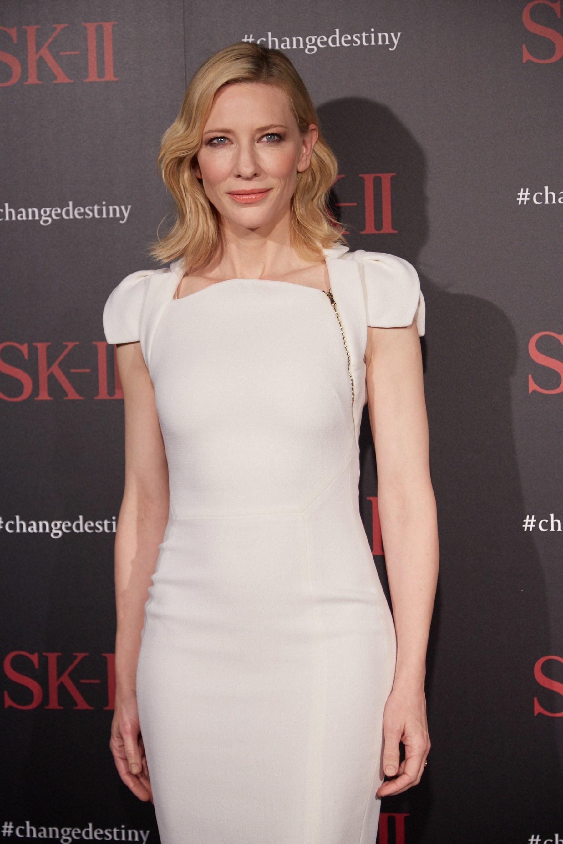 SK-II Global Brand Ambassador Cate Blanchett attends the SK-II #changedestiny Forum in L.A.