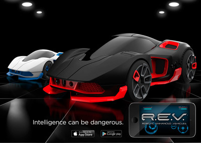 REV are Robotic Enhanced Vehicles that are app-enabled and built for Race, Chase and Battle. Coming Late Summer 2015 by WowWee