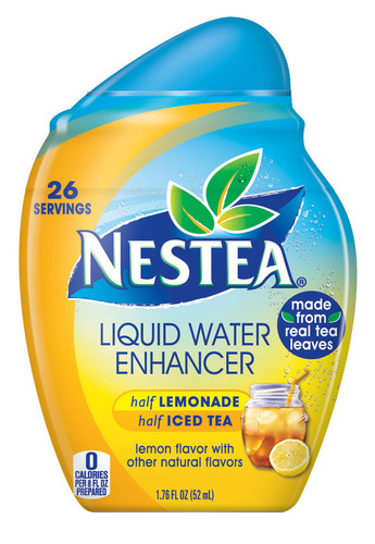 Nestea(R) Liquid Water Enhancers come in a variety of flavors including Half Lemonade & Half Iced Tea (shown ...