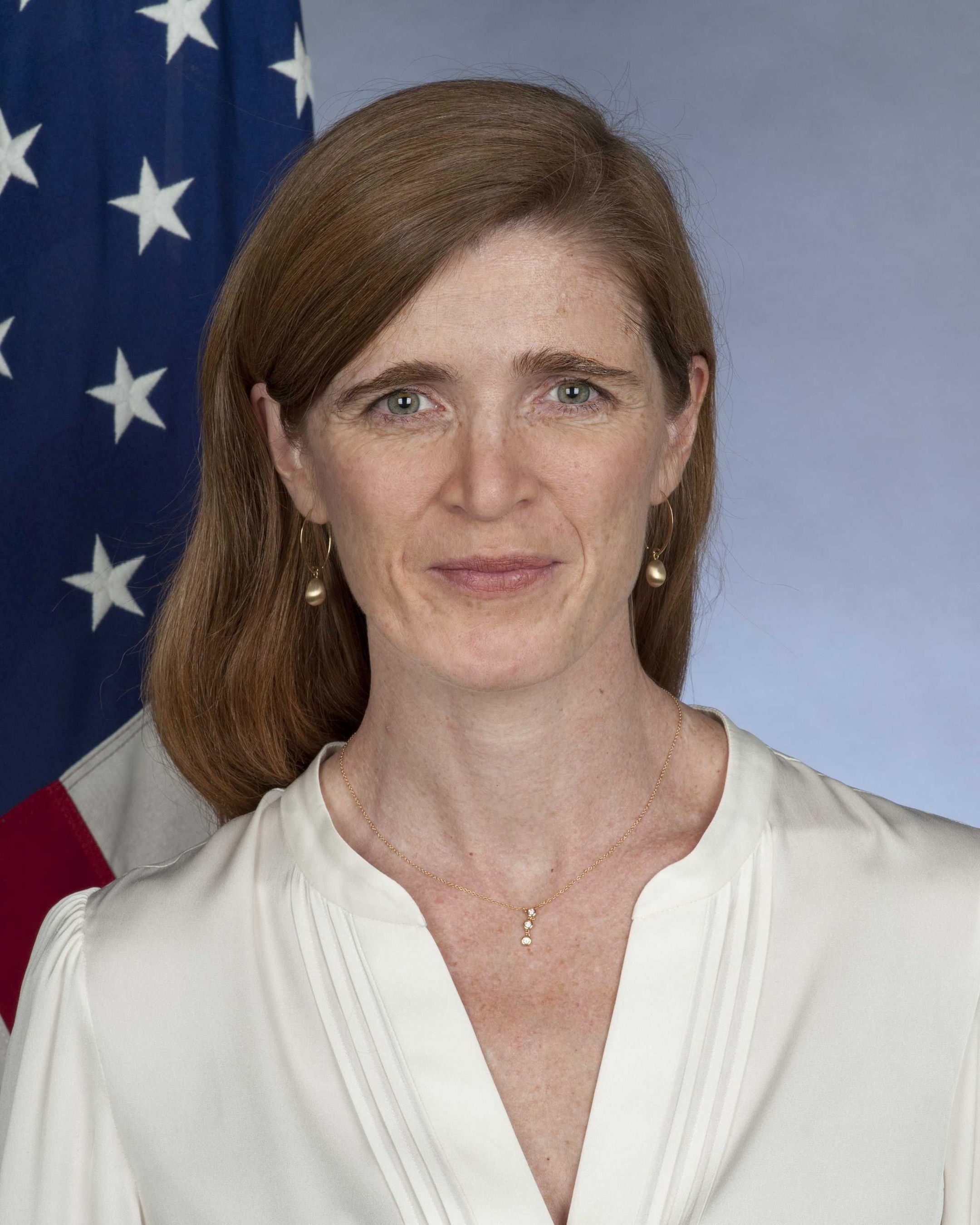 Samantha Power, U S  Ambassador to the United Nations, to