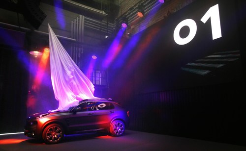 The LYNK & CO 01 is revealed to the world's media in Gothenburg (PRNewsFoto/LYNK & CO)