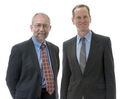SRI International Fellows Award winners Jon Mirsalis and Gregory Faris (PRNewsFoto/SRI International)