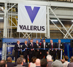 Valerus celebrates partnership with Brilex Industries in Youngstown, OH which will create jobs and supply critical oil and gas production equipment for the Marcellus and Utica region. Valerus CEO Pete Lane, second from right, and several state and local civic and business leaders attended a dedication ceremony on June 26th at Brilex's Andrews Avenue facility where the equipment is manufactured. Pictured: Tom Humphries, President/CEO Warren/Youngstown Regional Chamber; Mayor Chuck Sammarone, City of Youngstown; Alex Benyo, Vice President, Brilex; Brian Benyo, President, Brilex; Nick Sajatovic, SVP Manufacturing & Supply Chain, Valerus; Pete Lane, CEO, Valerus; Bill Bowers, VP, Production Equipment.