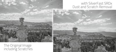 SilverFast SRDx Dust and Scratch Removal, Before-/After-Comparison, Black-White, b/w, Kodachrome, Digital Imaging, Archive Suite, HDR Studio (PRNewsFoto/LaserSoft Imaging AG)