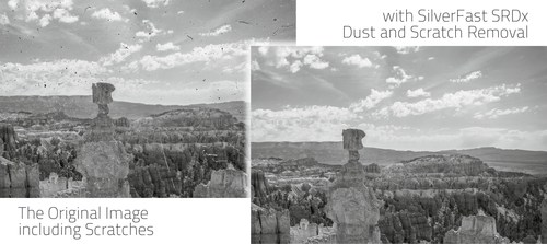SilverFast SRDx Dust and Scratch Removal, Before-/After-Comparison, Black-White, b/w, Kodachrome, Digital ...