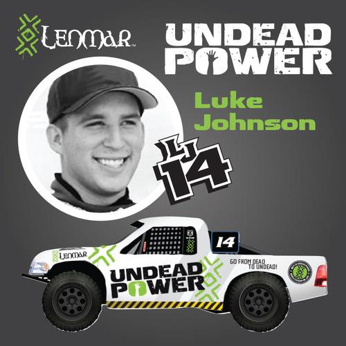 Luke Johnson and LENMAR bring UNDEAD POWER to Motorsports.  (PRNewsFoto/Lenmar Enterprises, Inc.)