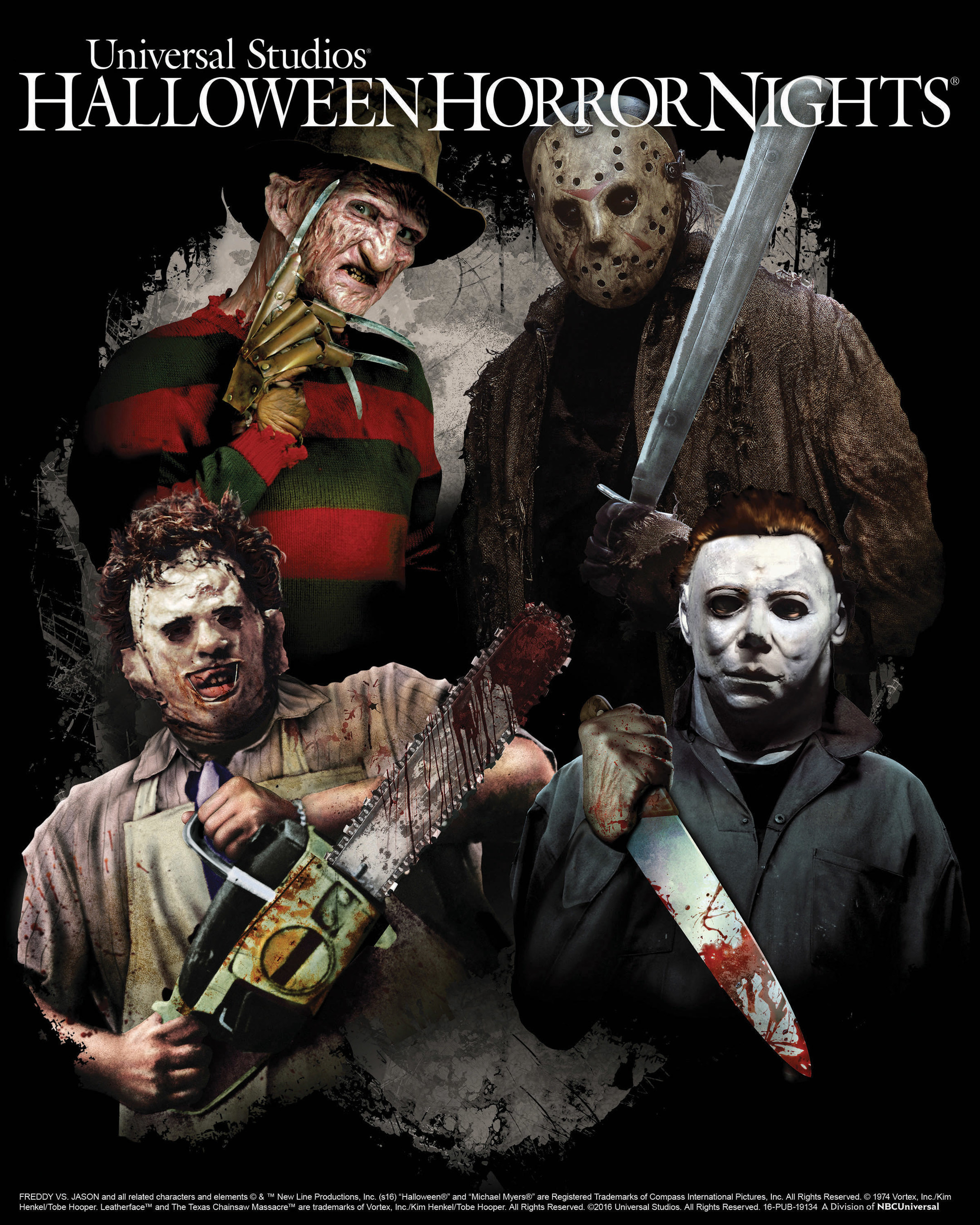 Universal Studios Hollywood Unleashes a Terrifying Trio of Slasher Films as 'Freddy vs. Jason,' 'The Texas Chainsaw Massacre' and 'Halloween' Stab Through 'Hallowe