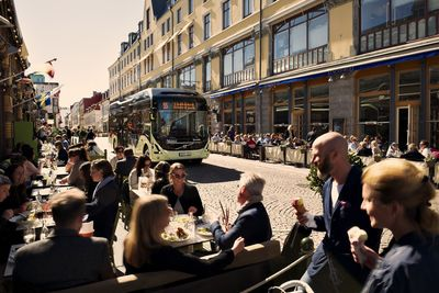 Electric bus route 55 launched in Gothenburg (PRNewsFoto/Volvo Group)