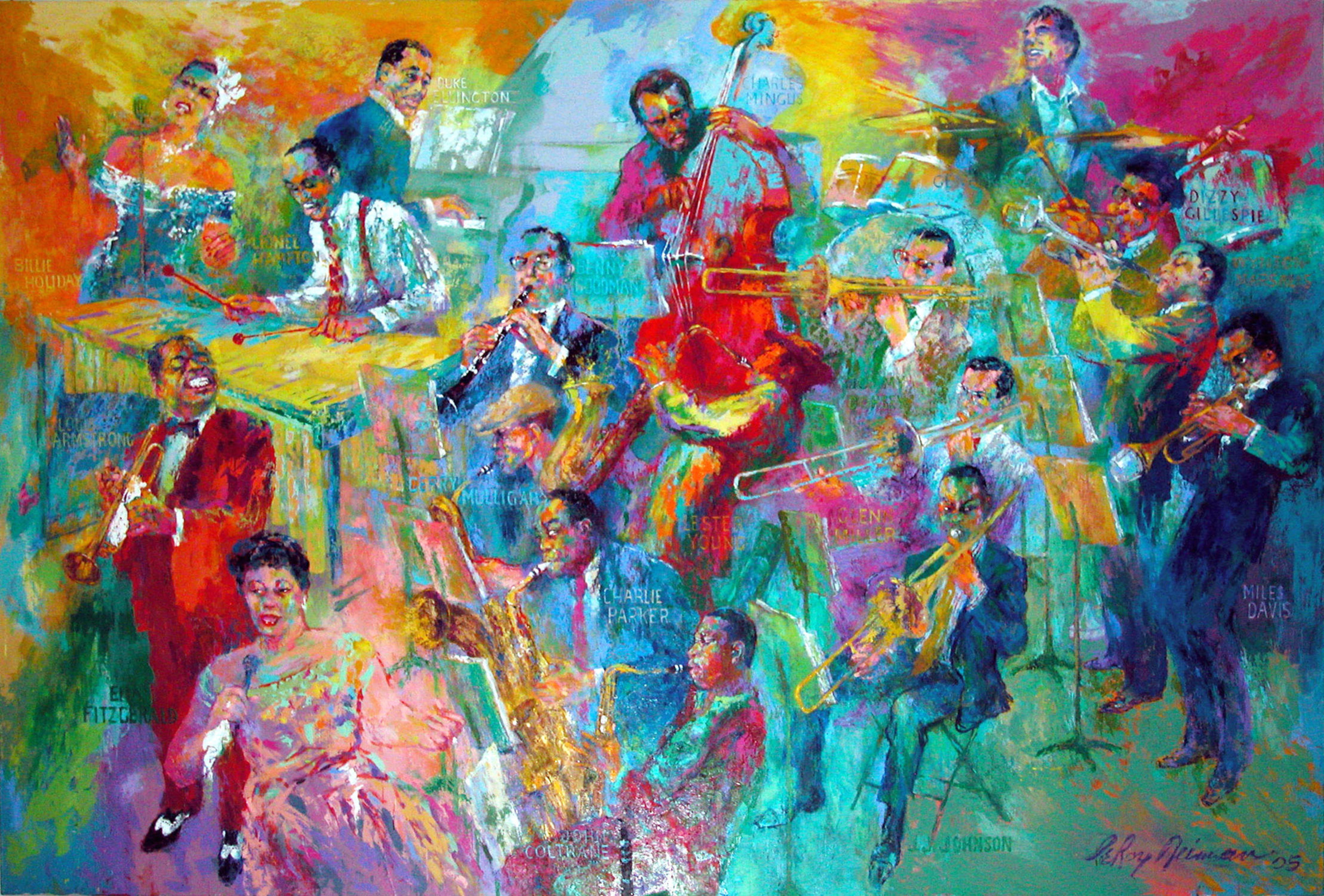 Smithsonian Announces $2.5 Million Jazz Endowment by LeRoy Neiman Foundation and Installation of Neiman's 'Big Band' Painting