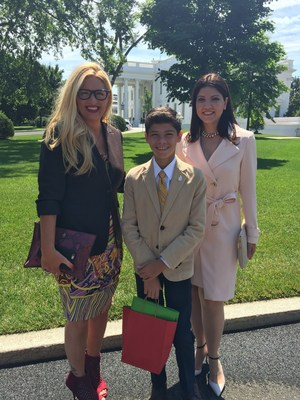 Kelly Cook, left, Kmart's chief marketing officer and the mother of triplets born prematurely, accompanied the March of Dimes 2016 National Ambassador and Puerto Rican native Ismael Torres-Castrodad, and his mother, Ismari Castrodad, right, to visit President Barack Obama at the White House on June 30, 2016. Ms. Cook and Kmart, the top corporate sponsor for the March of Dimes for 33 years, pledged an additional $250,000 to help support the March of Dimes fight against Zika and their #ZAPzika campaign.