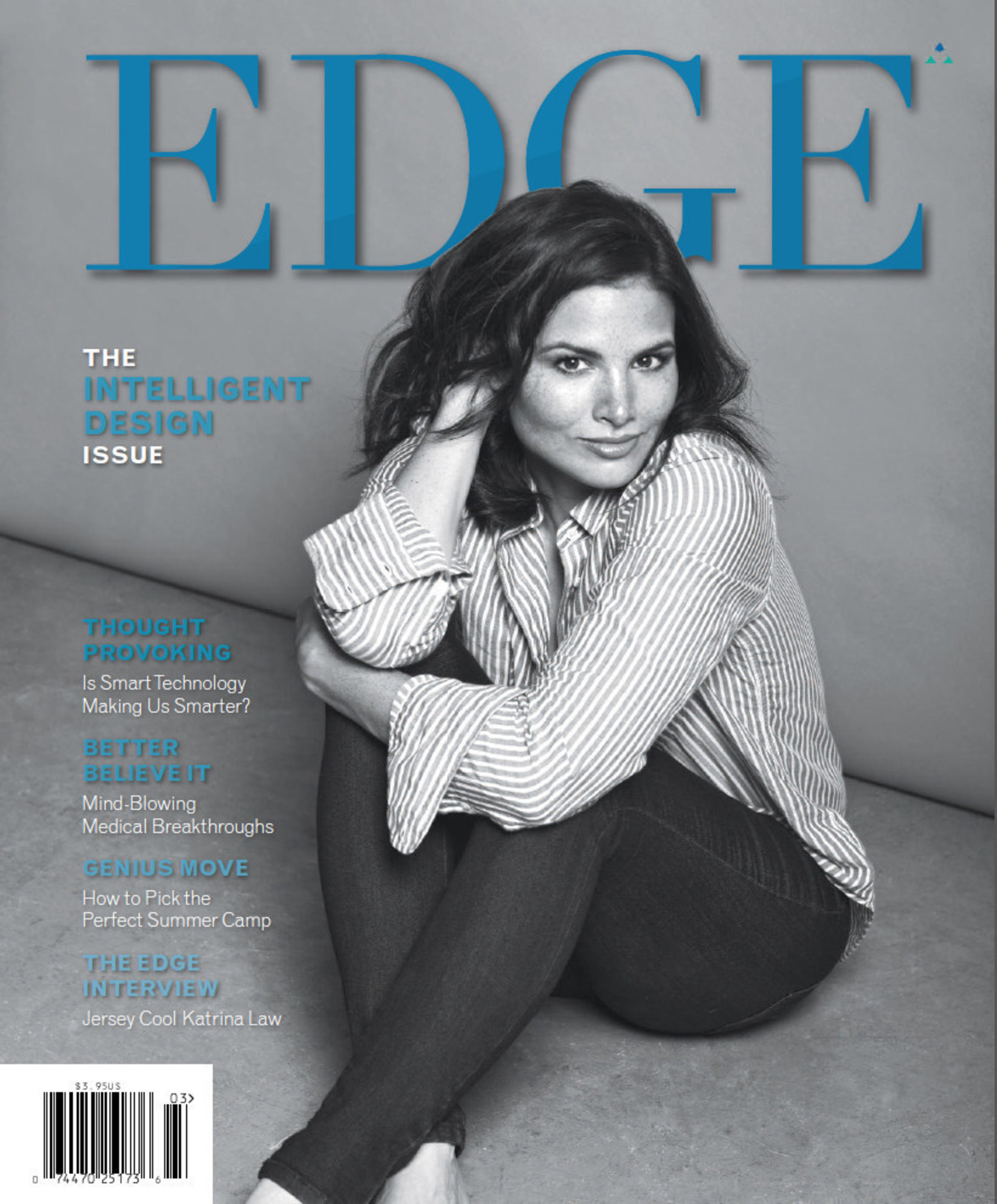 Arrow Star Katrina Law Kicks Off Year Eight of EDGE Magazine; 'Intelligent Design' Issue explores all that's smart about New Jersey