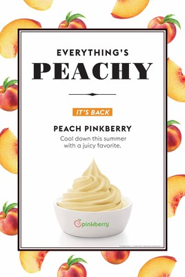 Pinkberry Sweetens Up the Menu with the Return of Peach Frozen Yogurt, Available for a Limited Time Only.