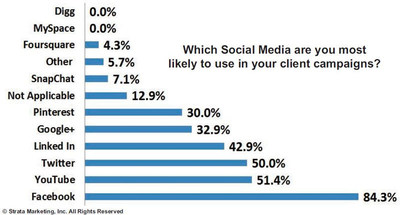 Which Social Media are you most likely to use in your client campaigns?