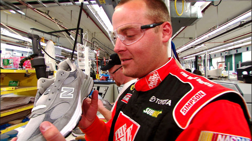 New Balance Shoemakers 'Job Swap' with No. 20 Home Depot Pit Crew