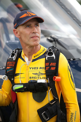 "Yves ""Jetman"" Rossy. Photo by Mike Shore, courtesy of Breitling SA.  (PRNewsFoto/Breitling)"