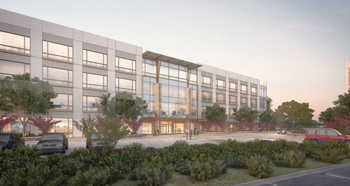 USAA REAL ESTATE COMPANY AND PATRINELY GROUP BREAK GROUND ON WESTRIDGE ONE AT LA CANTERA. (PRNewsFoto/USAA Real Estate Company) (PRNewsFoto/USAA REAL ESTATE COMPANY)