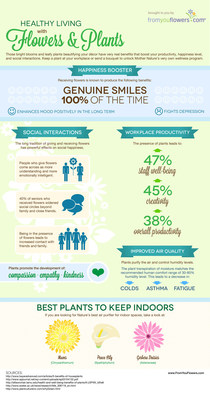 From You Flowers Publishes Summer 2014 Healthy Living with Flowers & Plants Infographic. (PRNewsFoto/FromYouFlowers.com)