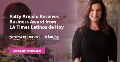 Patty Arvielo Receives Business Award from LA Times Latinos de Hoy