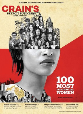 Crain's names 100 Most Influential Women in Michigan in June 6 issue.