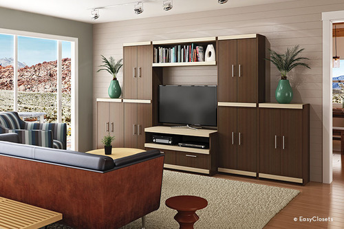 Easyclosets custom media centers perfect the art of home for Easyclosets