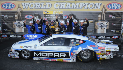 Team Mopar Driver Johnson Captures First Career NHRA Pro Stock Championship