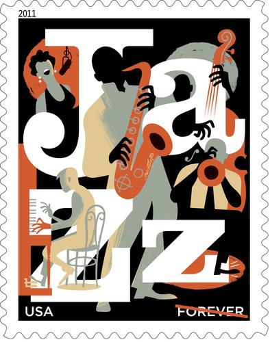 Jazz Appreciation Forever Stamp Honors America's Gift to Music.  (PRNewsFoto/U.S. Postal Service)