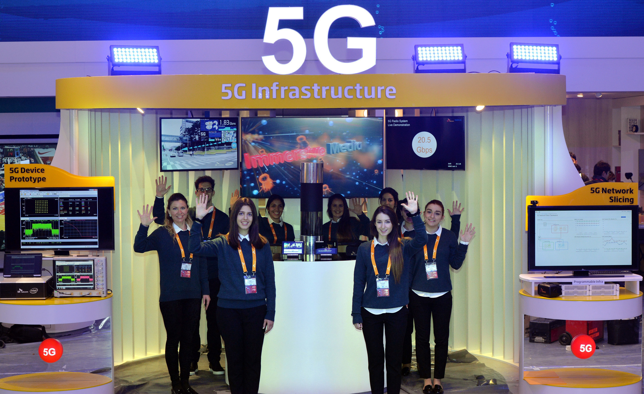 SK Telecom demonstrates its technological capability for building an end-to-end 5G system at MWC