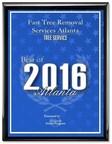 Fast Tree Removal Services Atlanta has received the 2016 Best of Atlanta Award in the Tree Service category by the Atlanta Award Program.