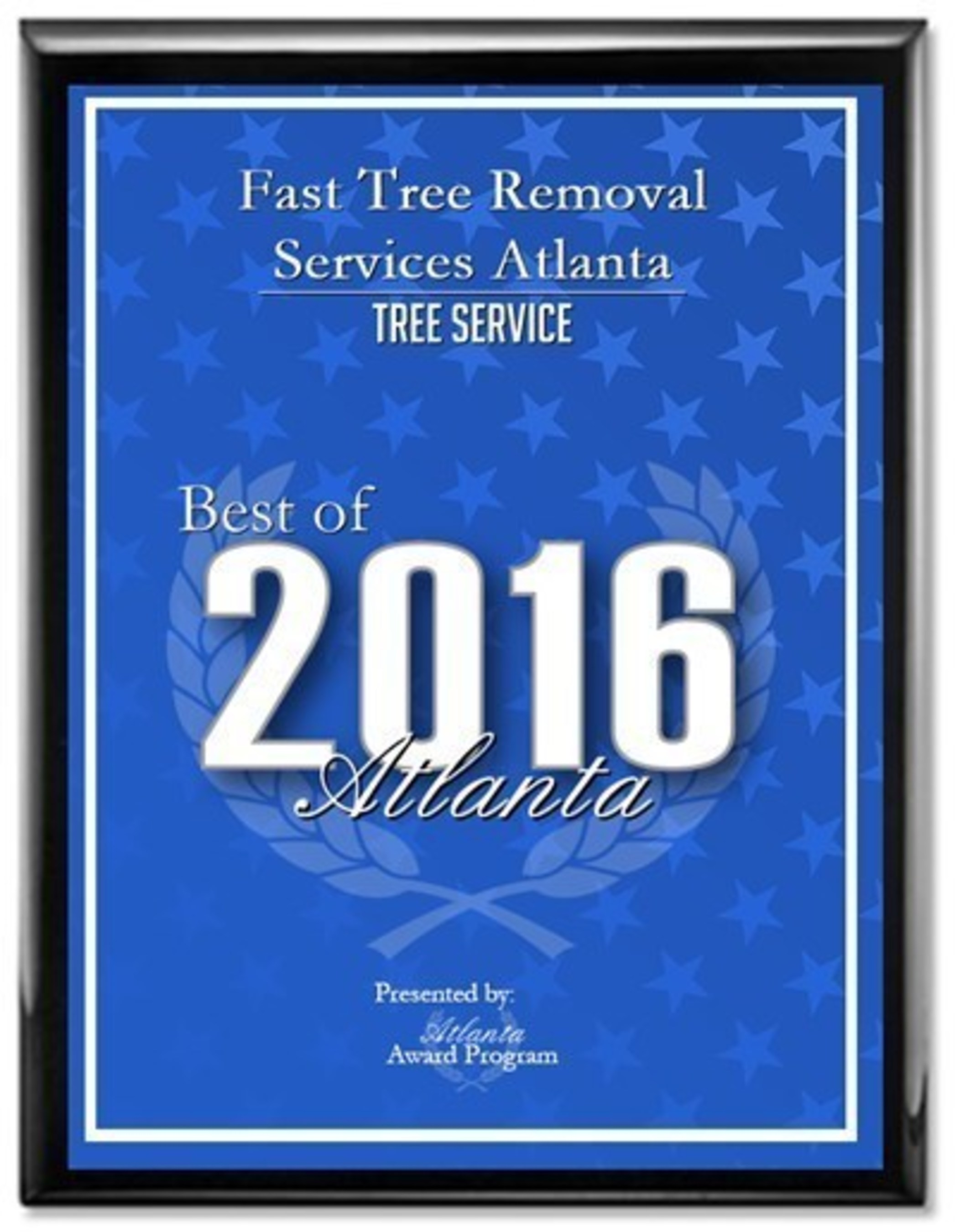 Fast Tree Removal Services Atlanta has received the 2016 Best of Atlanta Award in the Tree Service category by the Atlanta Award Program.