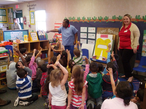 Students from Head Start Baker Drive in Osceola County learning about proper dental health. ...
