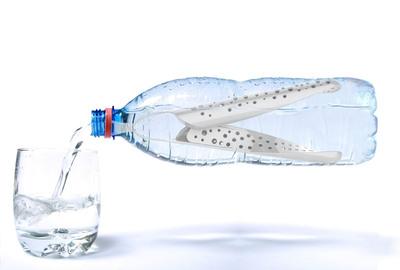 WaterBean in a bottle.  (PRNewsFoto/WaterBean)