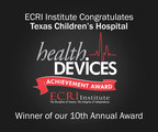 Texas Children's Hospital Wins ECRI Institute's 10th Annual Health Devices Achievement Award for Its Alarm Management Initiative