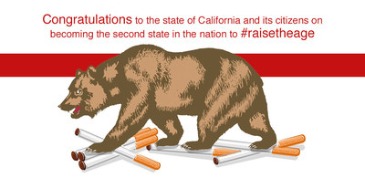 California has raised their tobacco age to 21!! The second state to do so!