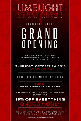 Limelight Extensions Grand Opening Flyer.  (PRNewsFoto/Limelight Extensions)